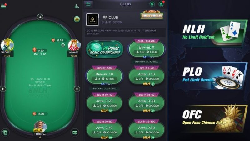 pppoker-screens